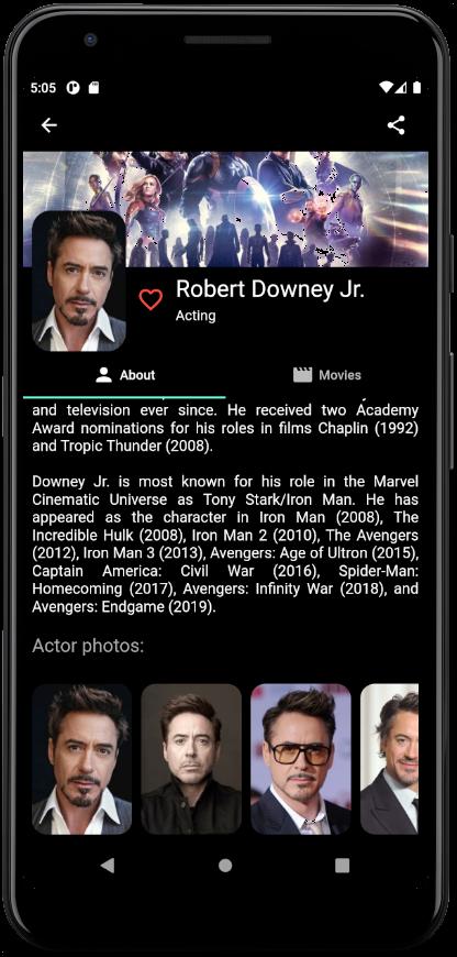 Movie Journal popular actors